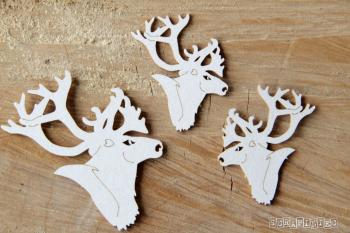 Chipboards - Reindeers / 8pcs