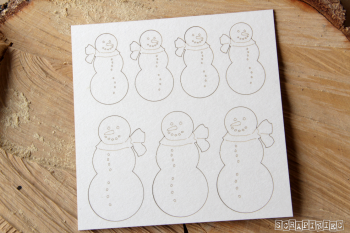 Chipboards - snowmen
