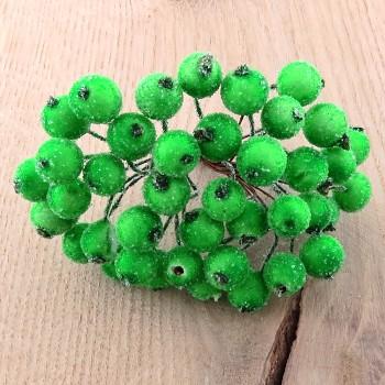 Dekoračné bobule (20ks) - Frosted Green