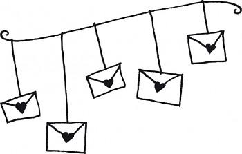 Stempel drewniany / svadobná pošta