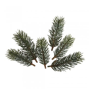 Fir branches, 7,7cm+9,5cm, 6pcs