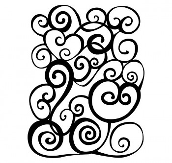 Drevené razítko / arabeska