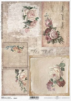 Rice decoupage paper A4 / ITD R1117
