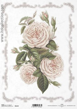 Rice decoupage paper A4 / ITD R1119