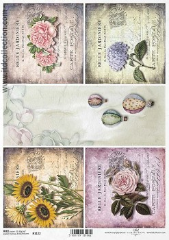 Rice decoupage paper A4 / ITD R1122