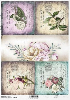 Rice decoupage paper A4 / ITD R1123