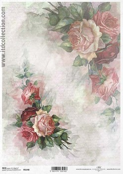 Rice decoupage paper A4 / ITD R1140