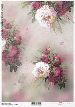 Rice decoupage paper A4 / ITD R1163