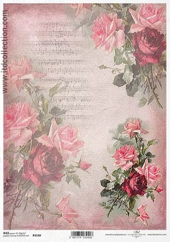Rice decoupage paper A4 / ITD R1168