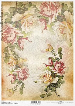 Rice decoupage paper A4 / ITD R1171