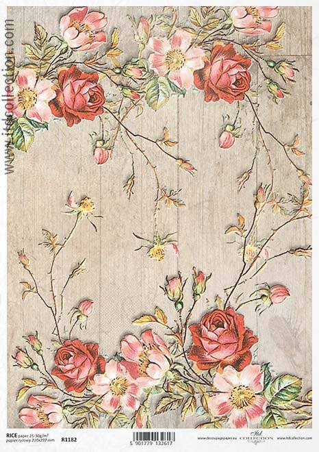Rice decoupage paper A4 / ITD R1182