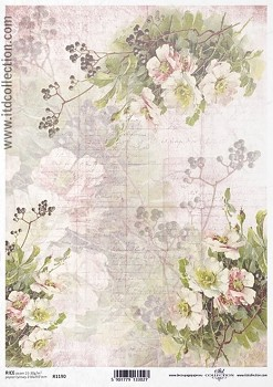 Rice decoupage paper A4 / ITD R1190