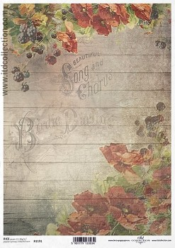 Rice decoupage paper A4 / ITD R1191