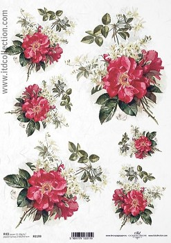 Rice decoupage paper A4 / ITD R1199