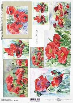 Rice decoupage paper A4 / ITD R1216