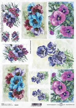 Rice decoupage paper A4 / ITD R1223