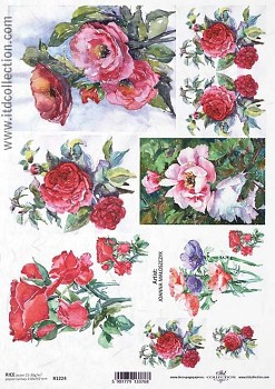 Rice decoupage paper A4 / ITD R1224