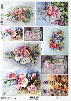 Rice decoupage paper A4 / ITD R1234