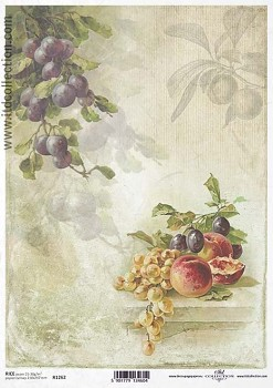Rice decoupage paper A4 / ITD R1262
