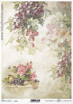 Rice decoupage paper A4 / ITD R1263