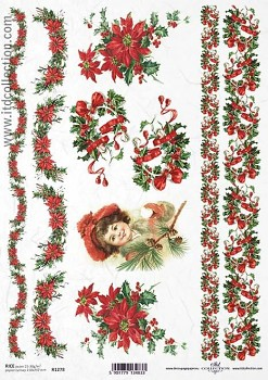 Rice decoupage paper A4 / ITD R1278