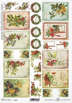 Rice decoupage paper A4 / ITD R1284