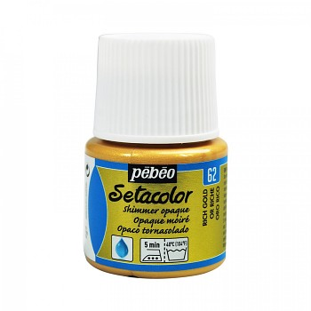 Setacolor Shimmer Opaque / Textile Colour 45ml / Rich Gold 62