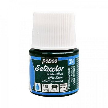 Setacolor Opaque / Textile Colour 45ml / Suede Petroleum green 314