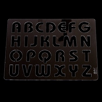 Plastová šablóna A5 / veľká abeceda 2