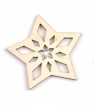 Drevená ozdoba / hviezda / 1ks