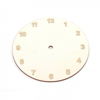 Wooden clock basis Arabic numerals