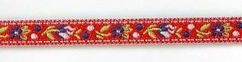 Krajka szerokość 10mm do strojów ludowych poliestrowa / 1m / red