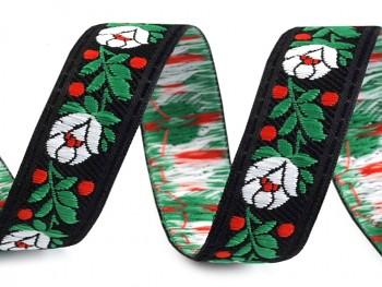 Polyester Folk Ribbon width 18mm / 1m / black