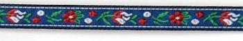 Polyester Folk Ribbon width 10mm / 1m / blue