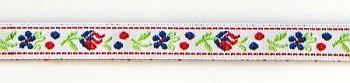 Polyester Folk Ribbon width 10mm / 1m / white