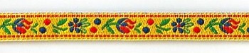 Polyester Folk Ribbon width 10mm / 1m / yellow