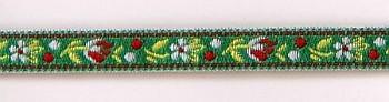 Polyester Folk Ribbon width 10mm / 1m / green