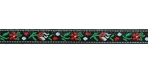 Polyester Folk Ribbon width 10mm / 1m / black