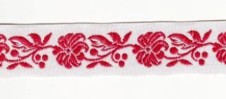 Folk Ribbon 22mm / 1m / red