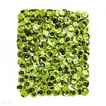 Metalické flitre / 15g / svetlo zelené