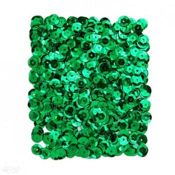 Metalické flitre / 15g / tmavo zelené