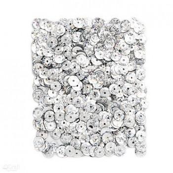 CEKINY HOLOGRAFICZNE / 15 g / srebrne