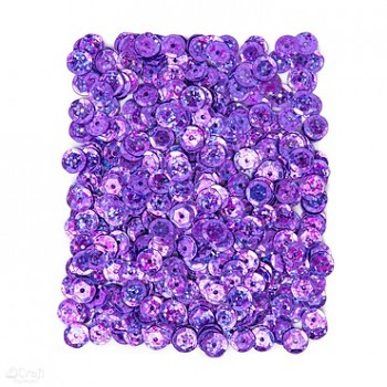 CEKINY HOLOGRAFICZNE / 15 g / fioletowe jasne