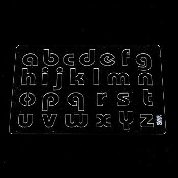 Plastová šablóna A5 / malá abeceda