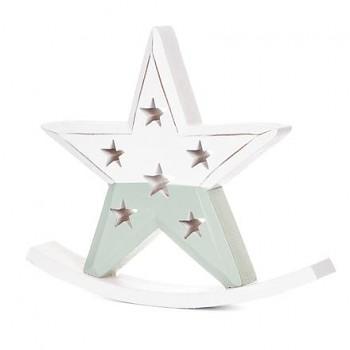 Drevená dekorácia - Rocking star / 19x16cm