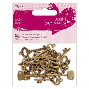 Charm Pack (21pcs) - Papermania - Vintage Keys