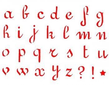 Šablóna / 20x15cm / Small letters Alphabet