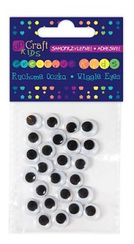Assorted adhesive Wiggle eyes / 10mm / 24pcs
