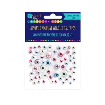 Assorted adhesive magic Wiggle eyes / 72pcs