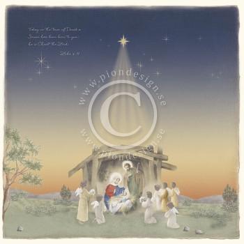 "Nativity / 12x12"" / Long ago in Bethlehem"